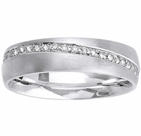 6mm Diamond Wedding Band for Men or Women