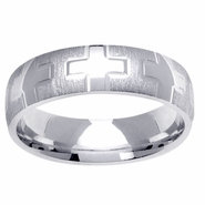 6mm Mens Cross Ring
