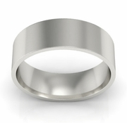 6mm Platinum Wedding Ring Flat