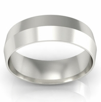 6mm Platinum Wedding Ring Knife Edge