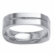 6mm Square Mens Ring