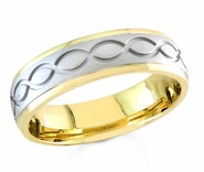 6mm Two Tone Wedding Ring
