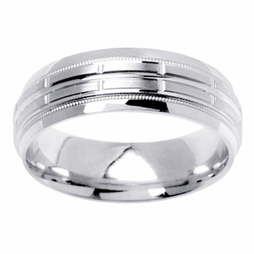 6mm Unique Mens Wedding Band - click to enlarge