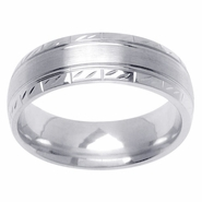 6mm Unique Mens Wedding Ring