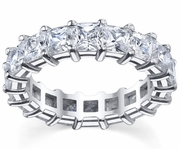 7.00cttw GH-SI Shared Prong Princess Diamond Eternity Ring