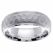 7mm Hammered Ring