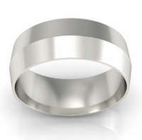7mm Knife Edge Wedding Ring in 14kt Gold
