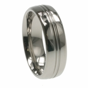 7mm Mens Aircraft Grade Titanium Ring