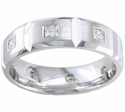 7mm Mens Diamond Eternity Wedding Band