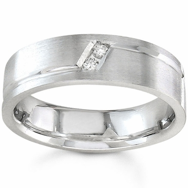 7mm Mens Diamond Wedding Band 0.10cttw - click to enlarge