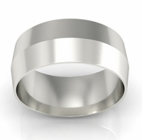 8mm Knife Edge Wedding Ring in 18-Karat