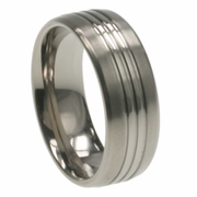 8mm Mens Aircraft Grade Titanium Ring