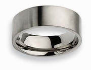 8mm Pipe Cut Titanium Band for Men Matte Finish