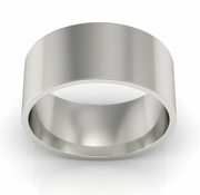 8mm Platinum Wedding Ring Flat