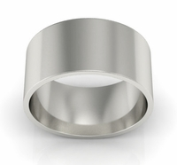 9mm Flat Wedding Ring in 14k