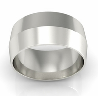 9mm Knife Edge Wedding Ring in 18-Karat