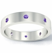 Amethyst Flat Landmark Eternity Band