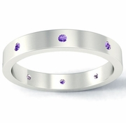 Amethyst Flat Landmark Eternity Ring