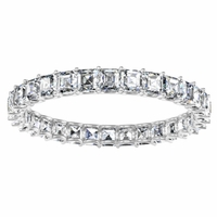 Asscher Cut Diamonds Eternity Ring 2.5 mm