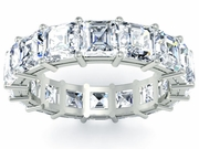 Asscher Cut Eternity Band Platinum or Gold