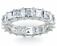 Asscher Cut Eternity Ring