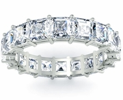 Asscher Diamond Eternity Band