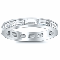 East-West Baguette Diamond Eternity Ring