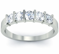Bar Set 5 Stone Anniversary Ring