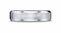 Benchmark Mens Beveled Wedding Palladium Band
