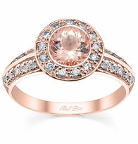 Bezel Mount Morganite Rose Gold Engagement Ring