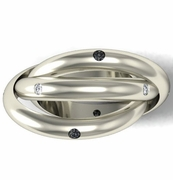 Black and White Diamond Trinity Ring in Gold or Platinum