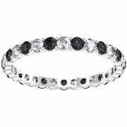 Black and White Diamond Eternity Wedding Ring