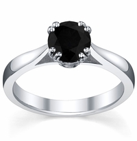 Black Diamond Double Prong Tapered Solitaire