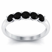 Black Diamond Five Stone Ring