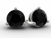 Black Diamond Gold Studs