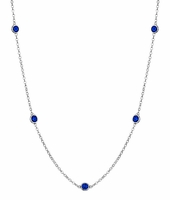 September Blue Sapphire Necklace