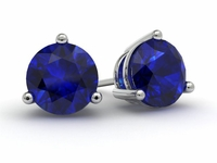 Blue Sapphire Gold Earrings