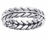 Braided Handmade Platinum Wedding Ring