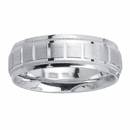 Brick Design Mens Wedding Band