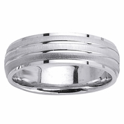 Brushed Bands Platinum Ring