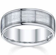 Brushed Mens Wedding Band