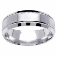 Brushed Wedding Ring for Men in 7mm