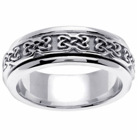 Celtic Knot Ring in Platinum