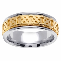 Celtic Knot Ring in Platinum and Gold