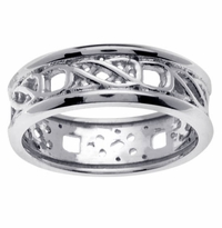 Celtic Knot Ring Platinum 950