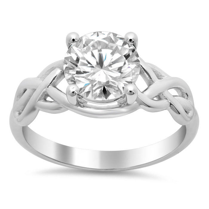 Celtic Knot Solitaire Engagement Ring - click to enlarge