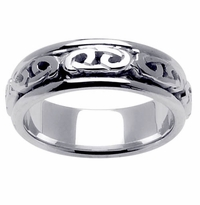 Celtic Knot Wedding Ring in 7mm 14kt White Gold