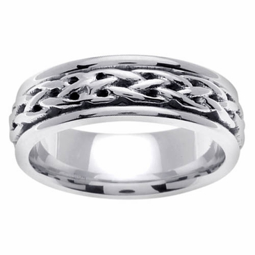 Celtic Knots Wedding Ring in Platinum - click to enlarge