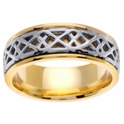 Celtic Knots Wedding Ring Platinum and Gold