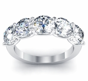 Certified 5 Stone Diamond Engagement Ring